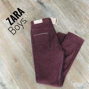 ZARA BOYS Burgandy Trousers